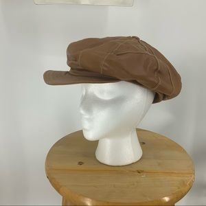Wilsons leather Maxima patchwork paperboy cap
